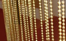 Gold Color Bead Type Lobby Curtains