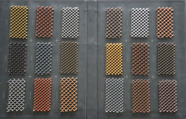 Architectural Perforated Metal Panels : Architectural mesh metal fabric perforated screen and