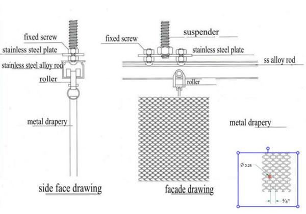 Metal Mesh Drapery - Chain Link Mesh Curtain Drapery