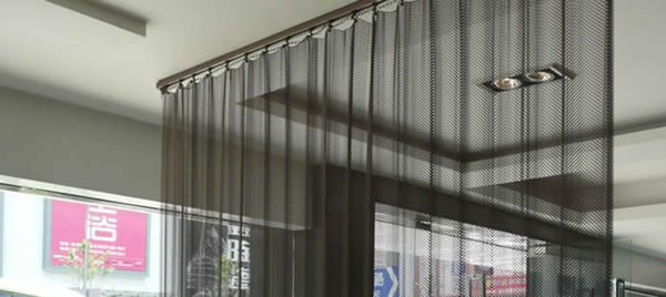 Mesh Curtain Panels : Metal mesh drapery chain link curtain