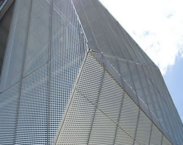 Perforated Aluminum Panels : Perforated metal mesh ceiling grilles decorative and