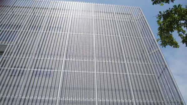 Perforated Metal Mesh Wall Cladding Panels For Architectural Protection And D